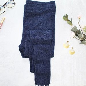 Free People High Waist Heather Knit Blue Leggings